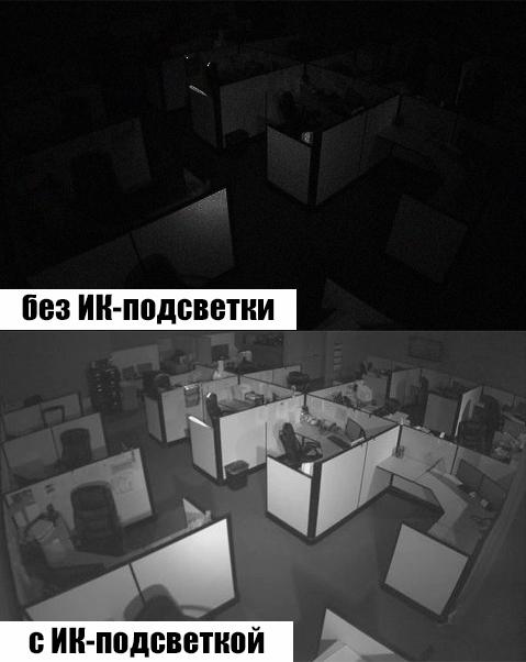 Работа ИК-подсветки